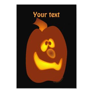 Goofy Glowing Halloween Jack-o-Lantern Pumpkin 13 Cm X 18 Cm Invitation Card