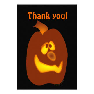 Goofy Glowing Halloween Jack-o-Lantern Pumpkin Invitation