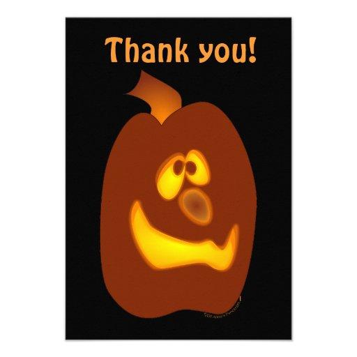 Goofy Glowing Halloween Jack-o-Lantern Pumpkin Invites