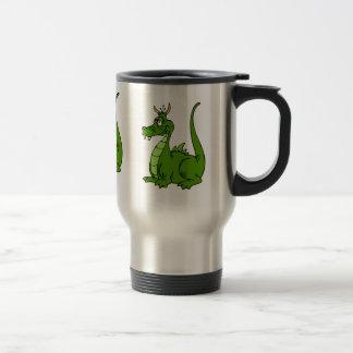 Goofy Green Dragon Travel Mug