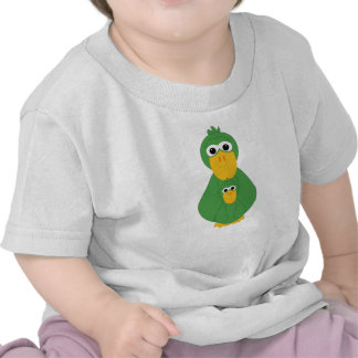 Goofy Green Duck And Baby Shirts