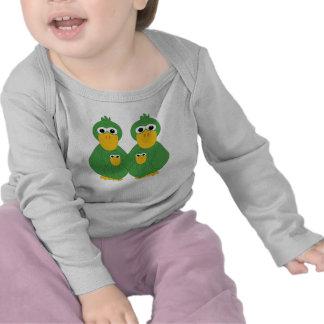 Goofy Green Ducks And 2 Babies T Shirts
