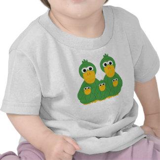 Goofy Green Ducks And 3 Babies T Shirt