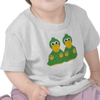 Goofy Green Ducks And 4 Babies Tshirts