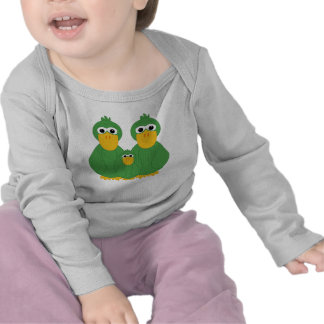 Goofy Green Ducks And Baby T Shirts