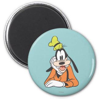 Goofy | Hand on Chin 6 Cm Round Magnet
