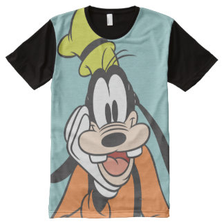Goofy | Hand on Chin All-Over Print T-Shirt