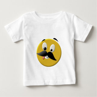 Goofy Happy Face with Mustache Tshirts