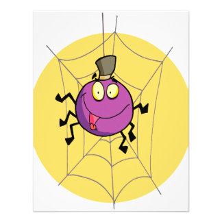 goofy happy spider in web cartoon custom invitations