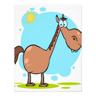goofy horse cartoon character custom announcements