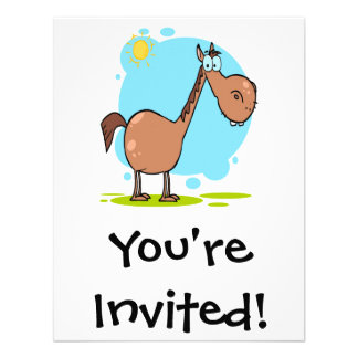 goofy horse cartoon character personalized invite