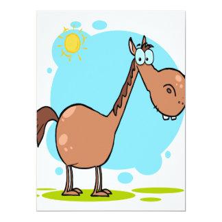 goofy horse cartoon character invitations