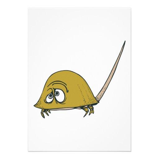 goofy horseshoe crab personalized invitation