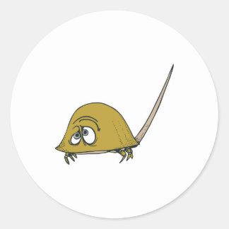 goofy horseshoe crab round sticker
