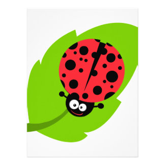 goofy ladybug on a leaf invitations