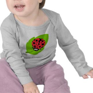 goofy ladybug on a leaf tshirt