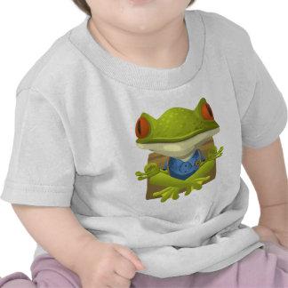 Goofy Little Meditating Green Tree Frog Shirt
