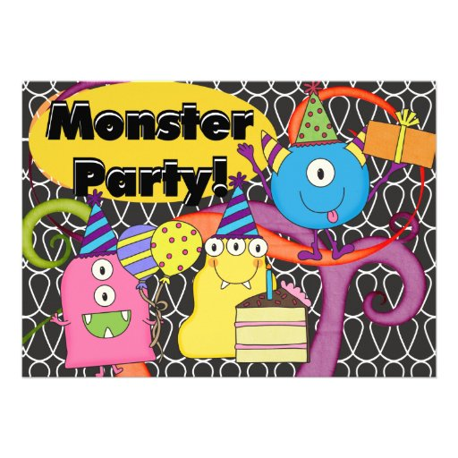 Goofy Monsters Birthday Invitation