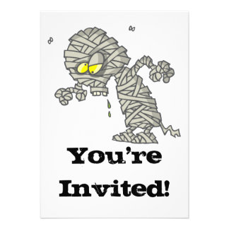 goofy mummy personalized invites