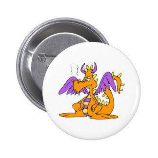 Goofy Orange Dragon 6 Cm Round Badge