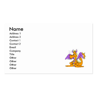 Goofy Orange Dragon Business Card