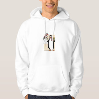 Goofy Penguins Hooded Pullover