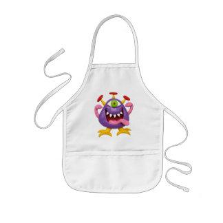 Goofy Purple Monster Kids Apron