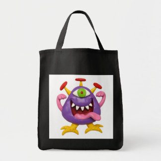 Goofy Purple Monster Tote Bag