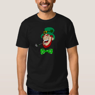 Goofy Ridiculous Leprechaun with Bow Tie and Pipe Tee Shirt