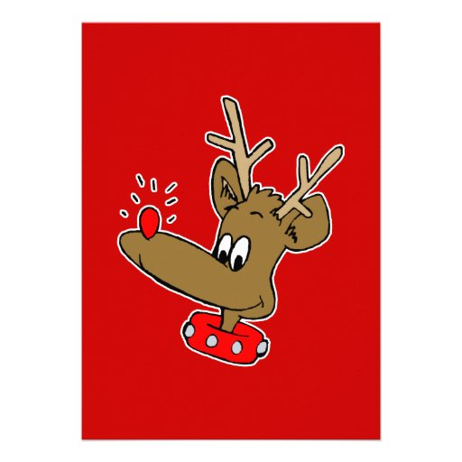 goofy rudolph personalized announcements