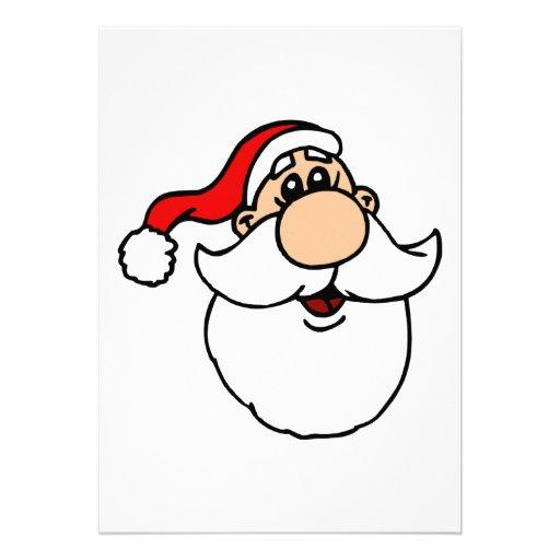 Goofy Santa Head Invitation