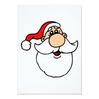 Goofy Santa Head 13 Cm X 18 Cm Invitation Card
