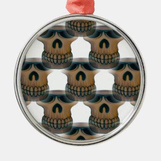 Goofy Skull Pattern Christmas Ornament