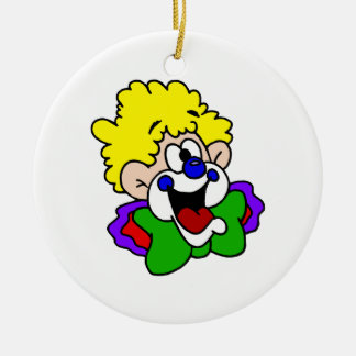 Goofy Smile Clown Christmas Ornament