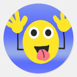 Goofy Smiley Sticker