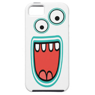 Goofy Smiling Googly Monster Face iPhone 5 Cases