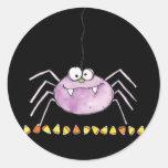 goofy spider round sticker