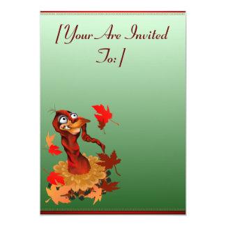 Goofy Thanksgiving turkey.  Happy Holidays.  in... 13 Cm X 18 Cm Invitation Card