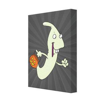 goofy trick or treat ghost cartoon canvas print