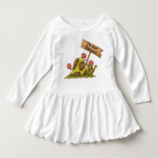 Goofy Turtle Green Do Not Disturb Tortoise Cute Infant Dress