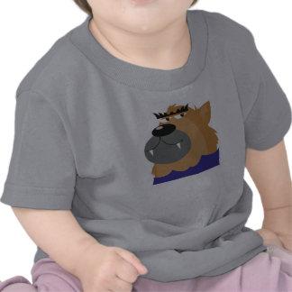 goofy werewolf monster tshirt