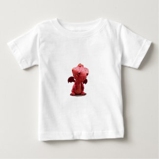 Goofy winged Red Dragon with crazy Smile Baby T-Shirt