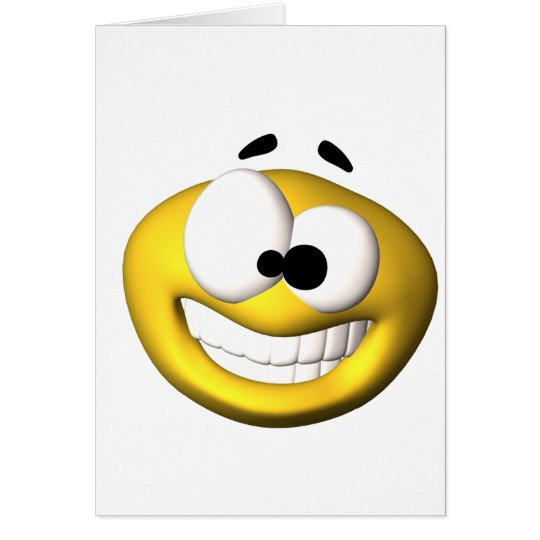 Goofy yellow smiley card