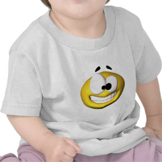 Goofy yellow smiley t-shirts