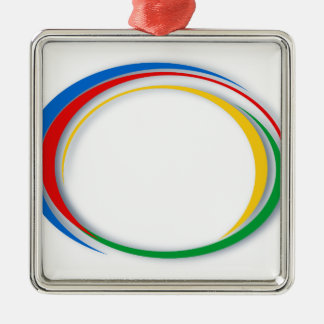 Google colors christmas ornament