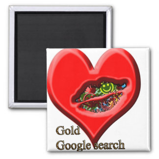 Google Gold search Square Magnet