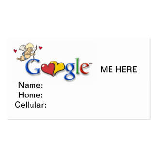 GOOGLE ME HERE BUSINESS CARD