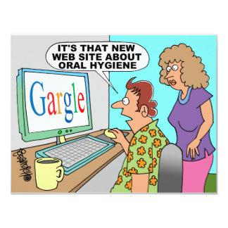Google Parody Cartoon 11 Cm X 14 Cm Invitation Card