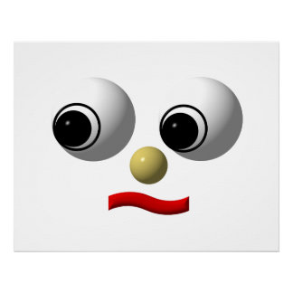 Googly-eyed face 2 posters