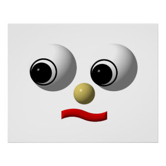 Googly-eyed face 2 poster